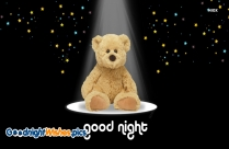 Good Night With Teddy Bear