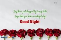 Good Night Wonderful Day Wishes