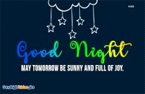 Inspiring Good Night Message