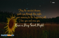 Sweet Good Night Wishes Quotes
