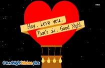 Good Night Love Feelings Message