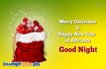 Merry Christmas And A Happy New Year In Advance Good Night