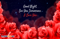 Good Night Wishes With Flower Background