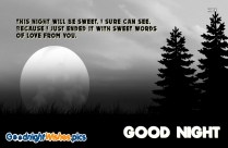 Good Night Wishes Quote | As The Moonlight Dims And The World Goes Quite