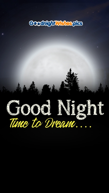Time To Dream Good Night Wishes