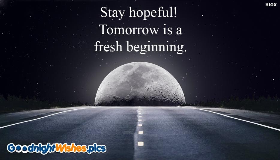 Good Night Wishes for Hopeful